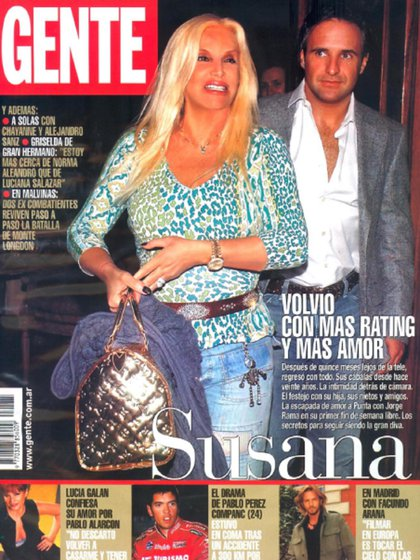 Uno de los primeros viajes que realizó la pareja, cuando ya habían oficializado su romance (Revista Gente)