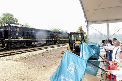 El Tren Maya es una de las obras más importantes para la administración de López Obrador. (Foto: Cortesía Presidencia)