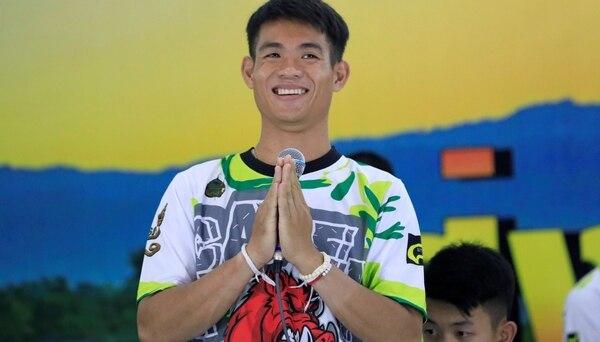 Ekkapol Chantawong, en la conferencia de prensa (Reuters)