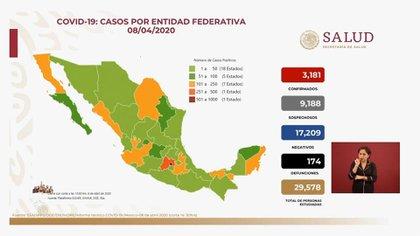 La Zona Metropolitana concentra la mayor cantidad de casos confirmados de COVID-19 (Foto: SSa)