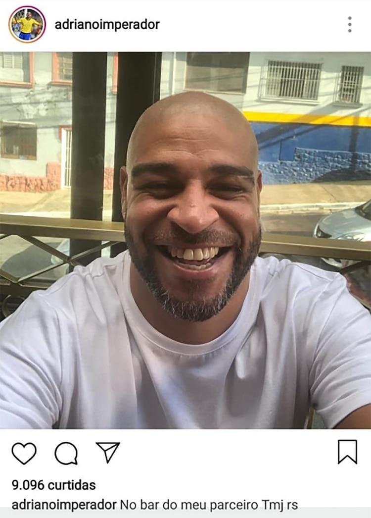 La publicación repudiada por los fanáticos que Adriano eliminó
