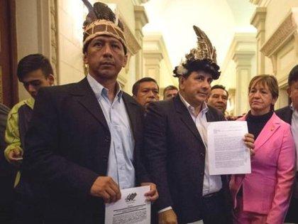 Diputados de Amazonas Rome Guzamana, Julio Ygarza y Nirma Guarulla