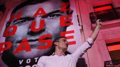 Holgada victoria del PSOE de Pedro Sánchez en España (AP Photo/Bernat Armangue)