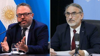 Matías Kulfas y Luis Basterra. Ambos ministros firmaron ayer una Resolución con nuevos controles para las exportaciones de carne vacuna.