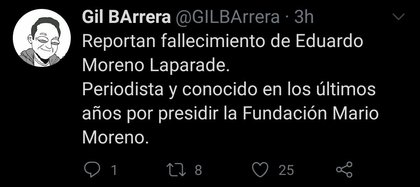 La información fue confirmada por Gil Barrera, periodista y presentador del programa matutino Hoy (Foto: Twitter/@GILBArrera)