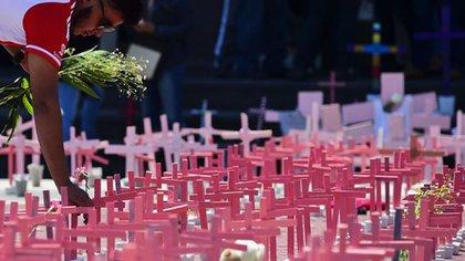 Día Internacional de la Eliminación de la Violencia contra las Mujeres. Foto: AFP