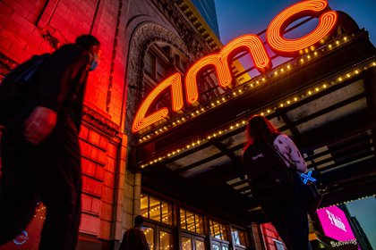 Un cine de la cadena AMC en la zona de Times Square (Bloomberg)