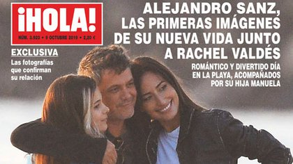 Las primeras imágenes de Alejandro Sanz junto a Rachel Valdés y su hija Manuela