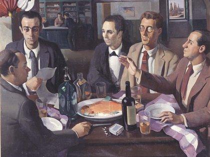 """""""Mesa de café"""" (1927) de Roberto Fernández Balbuena (Museo Reina Sofía)"""