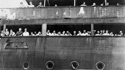 El Saint Louis, en su frustante viaje a América con alemanes judíos que escapaban del nazismo.