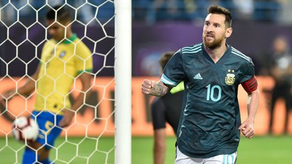 Messi, con la casaca de la Selección (AP)