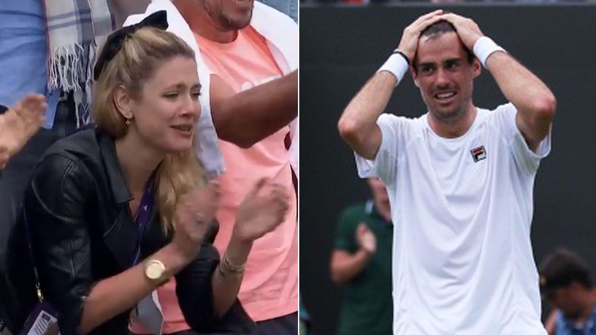 """Stephanie Demner, emocionada por el triunfo de Guido Pella en Wimbledon: """"Tu felicidad es la mía, te amo"""""""