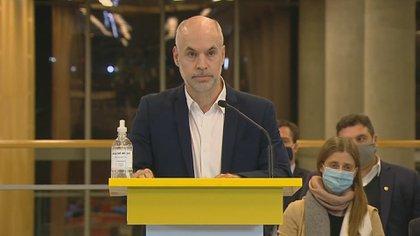 Horacio Rodríguez Larreta anuncia que irá a la Justica