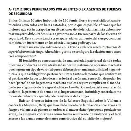En el informe sobre los 10 años de femicidios en Argentina, de La Casa del Encuentro, se destacó el problema de los crímenes cometidos por agentes de seguridad.