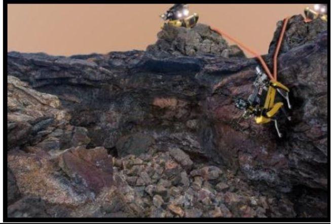 Estos robots son más rápidos y tienen más capacidad para desenvolverse en territorios difíciles que los Rover que se utilizan actualmente (NASA/JPL-Caltech)