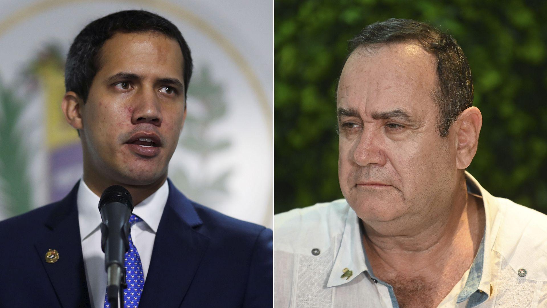 Juan Guaidó y Alejandro Giammattei (Reuters / AFP)