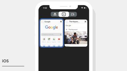 Chrome suma un nuevo diseño para iOS que permite ver las pestañas con mayor facilidad