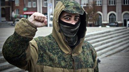 """En su pueblo del norte español lo llamaban """"Dimitri"""", por su admiración por la Unión Soviética. Ahora es el soldado Dima."""
