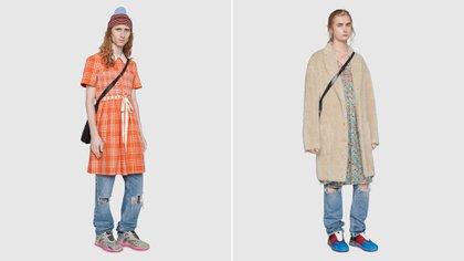 Los vestidos de hombre de la colección de primavera-verano 2021 (Gucci)