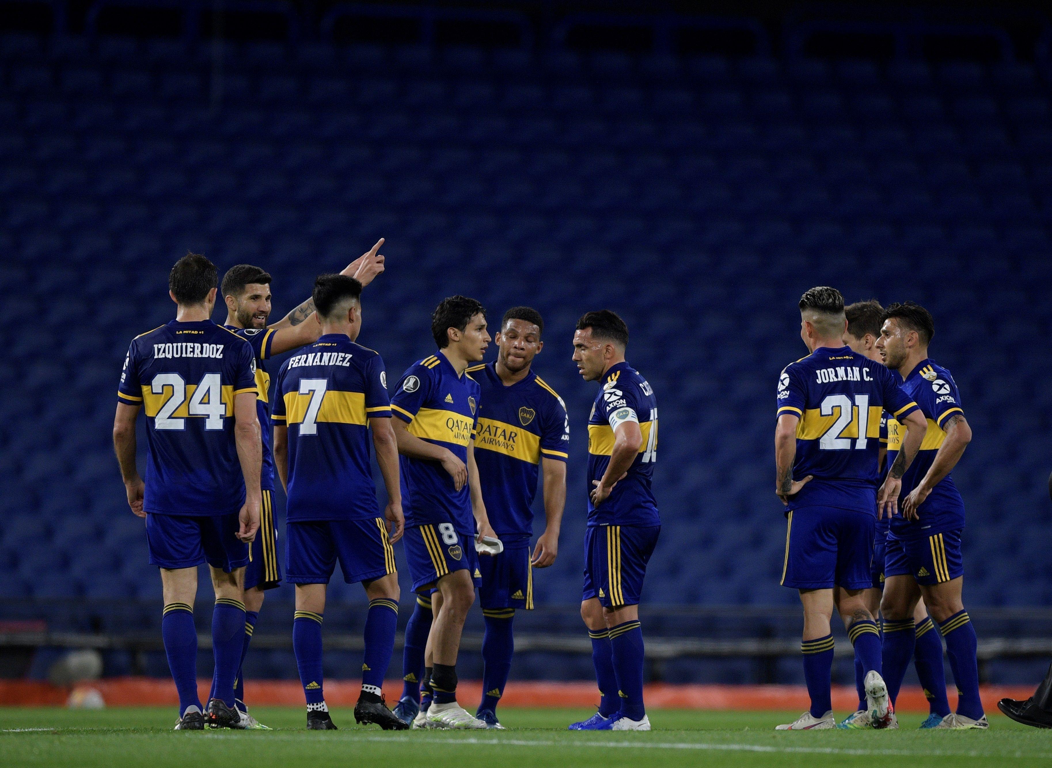Boca empató con Libertad y se aseguró un boleto a los octavos de final de la Copa Libertadores (EFE/Juan Mabromata)