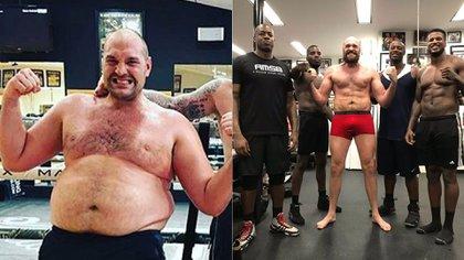 El cambio físico de Tyson Fury