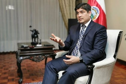 El presidente de Costa Rica, Carlos Alvarado, durante una entrevista con Reuters, en San José, Costa Rica. 23 de septiembre de 2020. REUTERS / Hector Guzmán. NO HAY REVENTAS. SIN ARCHIVOS