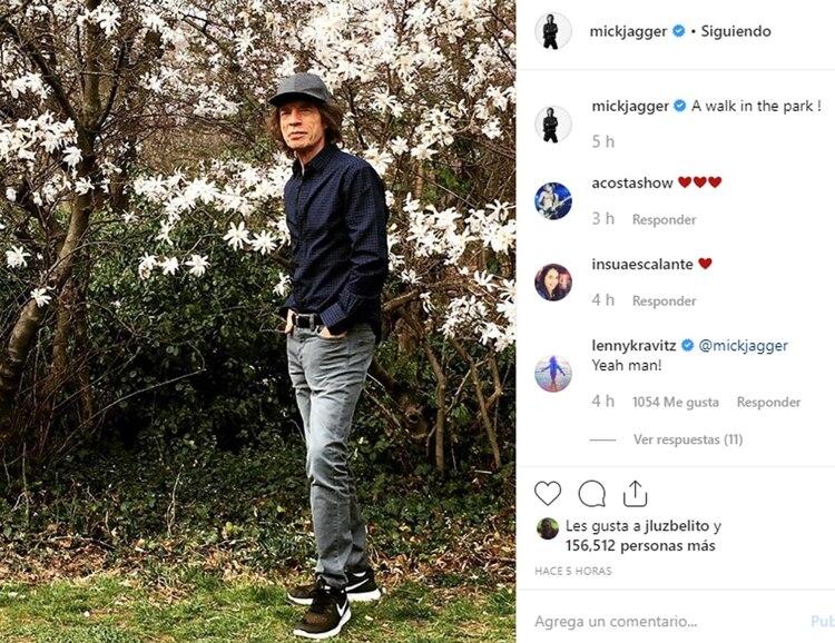 La foto que compartió Mick Jagger para demostrar que está en perfecto estado de salud