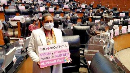 Difusión de los principios de intimidad en el caso de la Ley Olimpia (Foto: Twitter / @Ana_LiliaRivera)