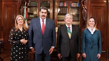 Maduro visitó México en Diciembre para la toma de posesión de AMLO (Foto: Presidencia de México)