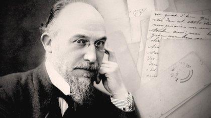 Erik Satie en 1919, a los 53 años