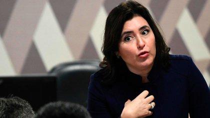 Simone Tebet, presidente de la Comisión Constitucional del Senado de Brasil (AP)