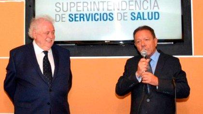 El ministro Ginés González García y el superintendente de Servicios de Salud, Eugenio Zanarini