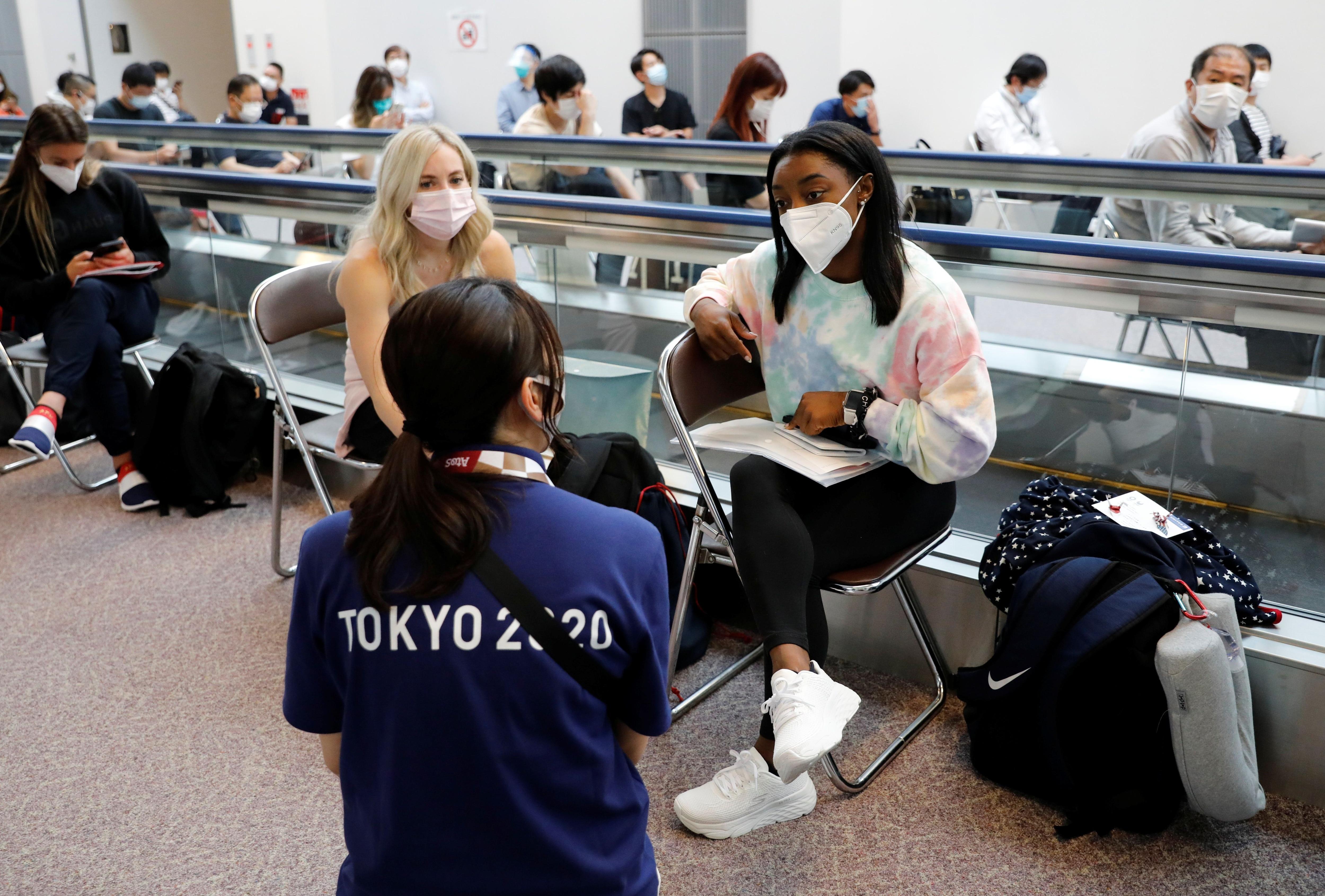 Simone Biles y el equipo de gimnasia de Estados Unidos llegaron a Tokio hace algunos días (REUTERS/Issei Kato)