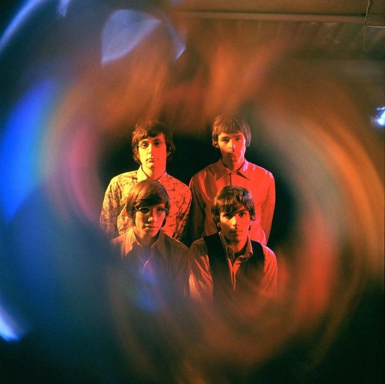 Nick Mason, Rick Wright, Roger Waters y Syd Barrett integrantes de Pink Floyd, en 1967 (Marc Sharratt/Shutterstock)