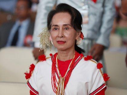Aung San Suu Kyi, líder de facto del gobierno birmano y Nobel de la Paz (EFE)