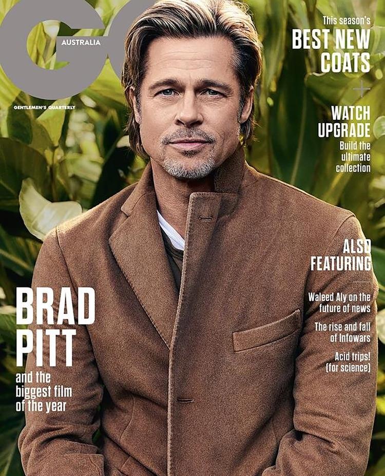Brad Pitt en la portada de la revista GQ Australia