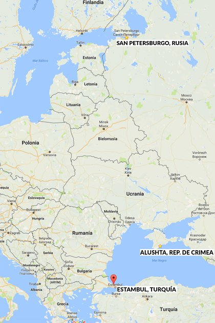 """Mapa de la zona del """"continente euroasiático"""", donde los monjes negros de Putin quiere que Rusia vuelva a tomar el poder."""