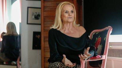 Elsa Serrano en su atelier de Palermo Chico. En sus 43 años de trayectoria vistió a grandes personalidades de la Argentina y del exterior, como Gina Lollobrigida, Sofia Loren y la bailarina rusa Maya Plisetskaya (Nicolás Aboaf)