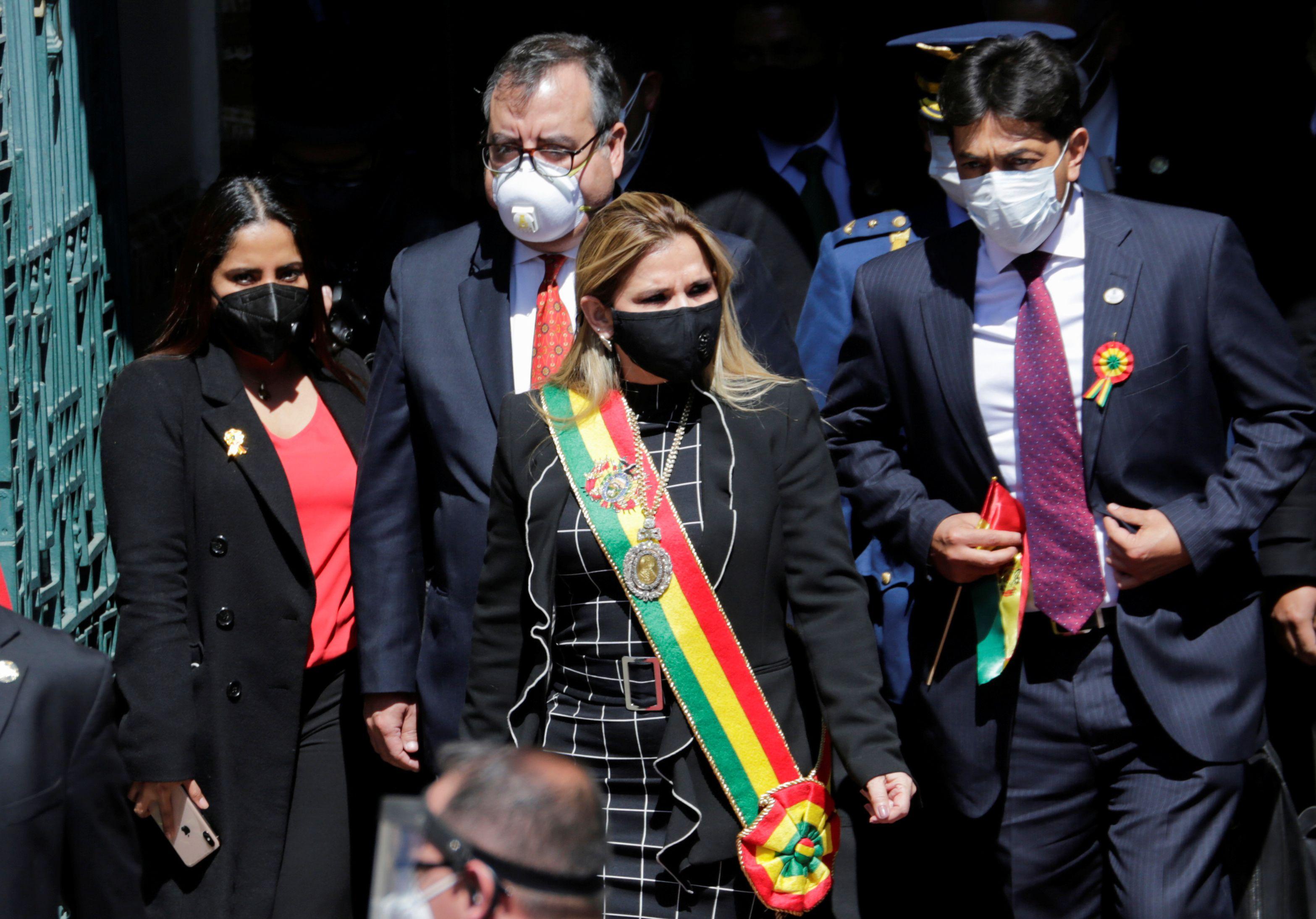 LA presidenta de Bolivia Jeanine Anez