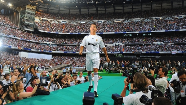 Así fue la presentación de Cristiano Ronaldo cuando llegó al Real Madrid en 2009 (Getty Images)
