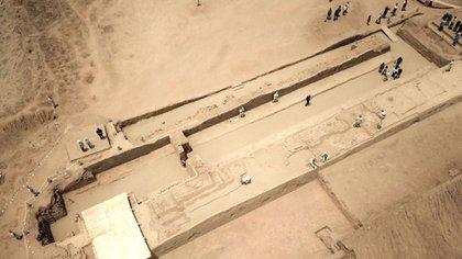 La hallazgo se produjo en la ciudad de Chan Chan, ubicada al norte de Perú (AFP)