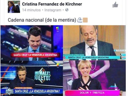 El posteo de Cristina Kirchner en Instagram