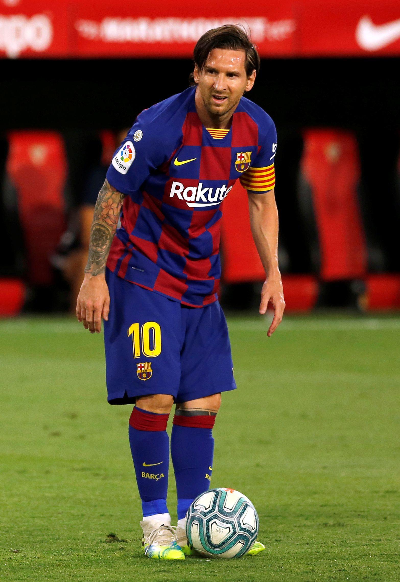 El último look: tras el parate por la pandemia, Lionel Messi volvió sin barba y con el pelo largo para disputar la última parte de la Liga