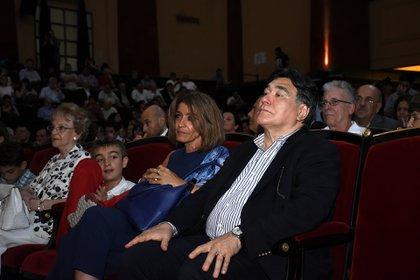 El ex secretario de Legal y Técnica Carlos Zannini estuvo en primera fila, en su primera aparición pública tras haber sido liberado en marzo del año pasado