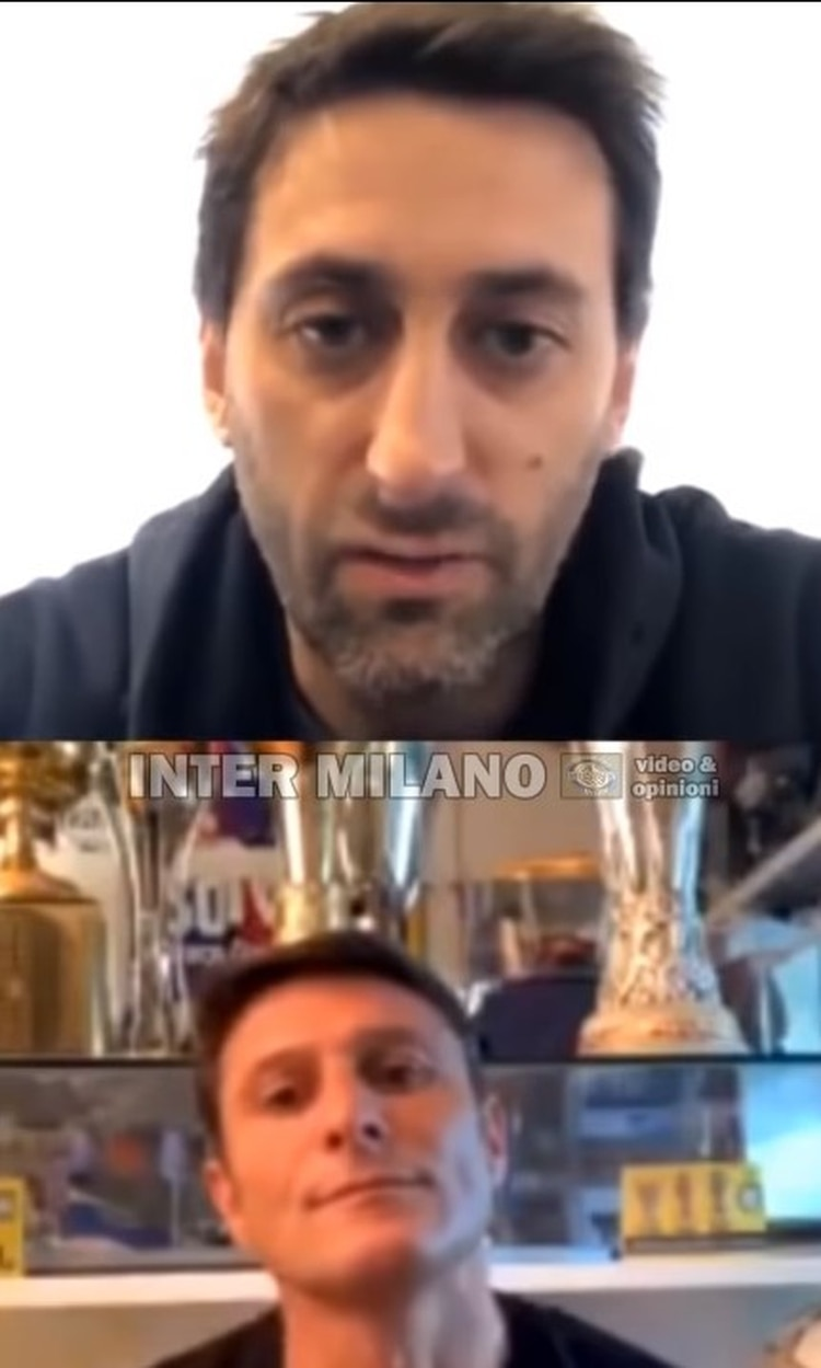 Diego Milito and Javier Zanetti shared a talk on an Instagram live