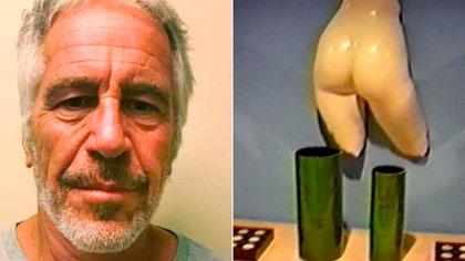 A la izquierda, Epstein al ser ingresado a prisión el sábado. A la derecha, una de las paredes de su mansión en Miami, que para sorpresa de los policías que ingresaron en 2005, estaban repletas de obras de arte de desnudos. (Foto: Archivo)