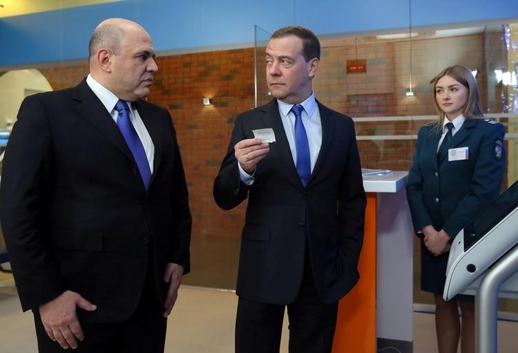El ex primer ministro Dmitry Medvedev, que se desempeñará ahora como vicejefe del Consejo de Seguridad (Reuters)
