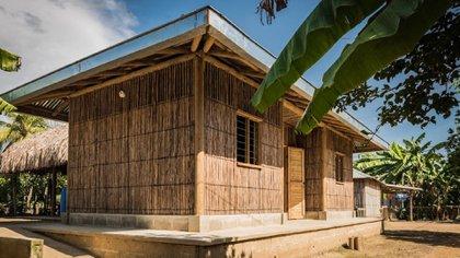 Proyecto de arquitectura sostenible adaptado al clima en la Mojana. Foto: cortesía Minambiente