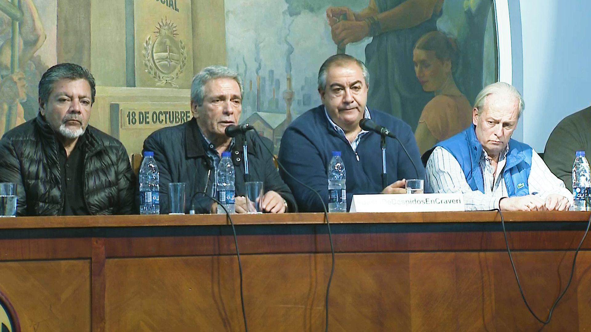 Gerardo Martínez, Carlos Acuña, Héctor Daer y Andrés Rodríguez, cuatro de los principales dirigentes de la CGT