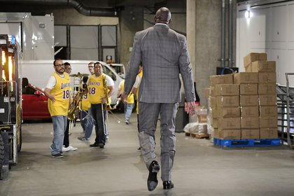 Magic Johnson. (AP Photo/Mark J. Terrill)